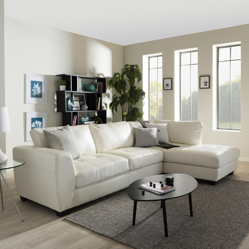 Most Recent Mesa Foam 2 Piece Sectionals Inside Sectionals – Living Room Furniture – The Home Depot (View 20 of 20)