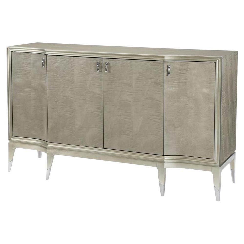 Most Recent Miranda Modern Classic Silver Leaf 4 Door Sideboard (Gallery 1 of 20)