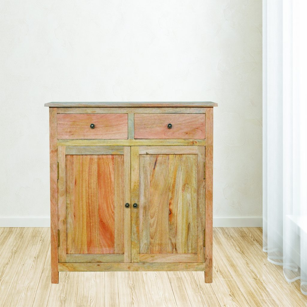 Most Recent Natural Mango Wood Finish Sideboards With Regard To Solid Oak Finished Mango Wood Two Door Two Drawer Sideboard/cupboard (View 12 of 20)
