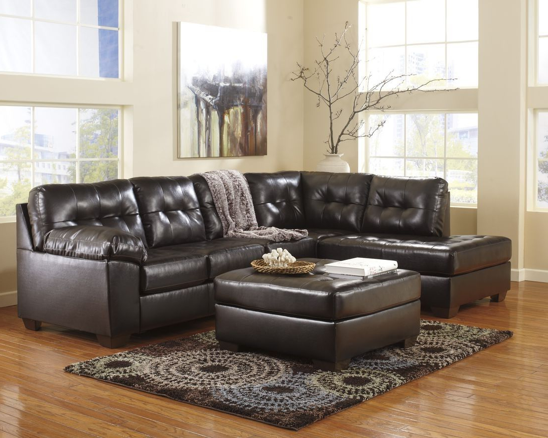 Most Recent Norfolk Chocolate 3 Piece Sectionals With Raf Chaise For Ashley Furniture Alliston Sectional In Chocolate (View 11 of 20)