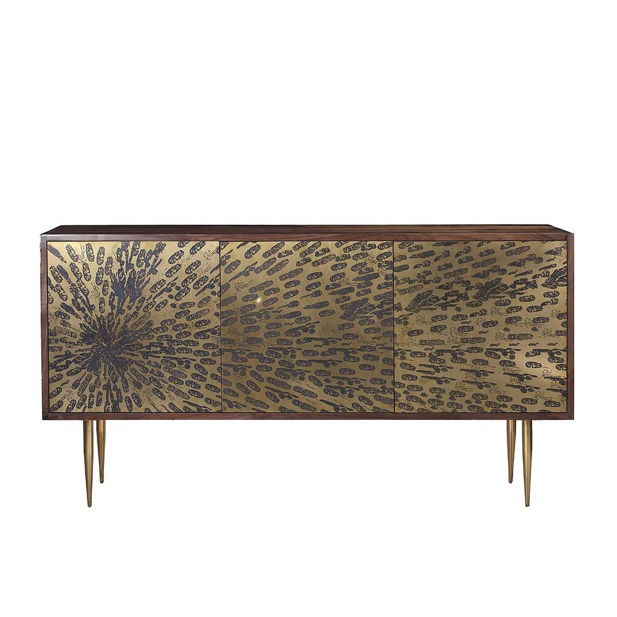 Most Recent Organic Modernism – Peacock Credenza – Modern Sideboards Buy Your Throughout Open Shelf Brass 4 Drawer Sideboards (View 15 of 20)