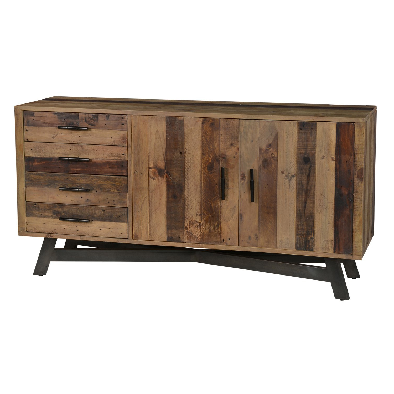 Most Recent Reclaimed Sideboards With Metal Panel Inside Shop Holden Reclaimed Wood 65 Inch Sideboardkosas Home – Free (View 5 of 20)