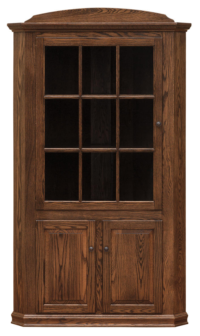 Most Recent Rhya 4 Door Sideboards Regarding Light Oak Corner China Cabinet – Cabinets Decorating Ideas (View 2 of 15)
