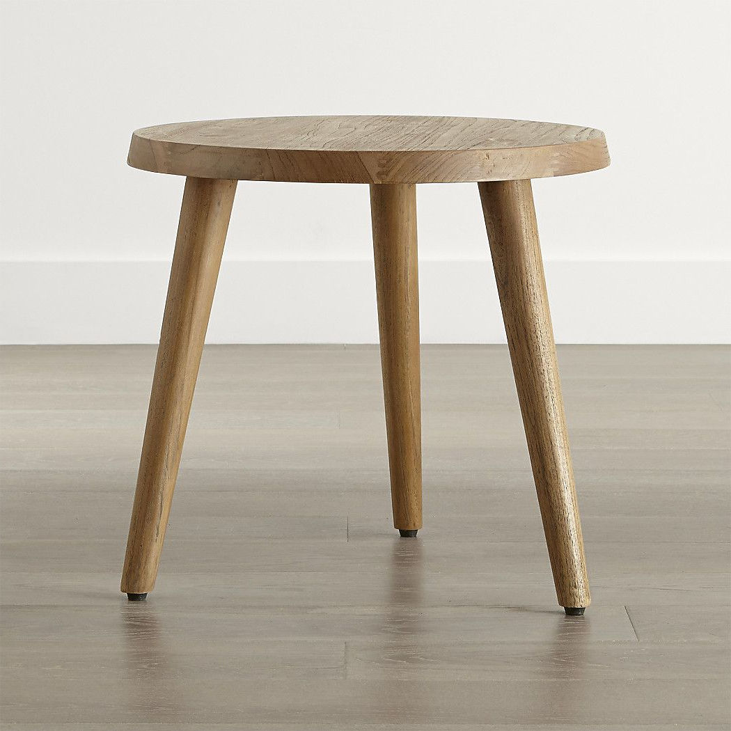 Most Recent Shop Edgewood Round Side Table. The Table's Teak Is Certified Pertaining To Moraga Barrel Coffee Tables (Gallery 4 of 20)