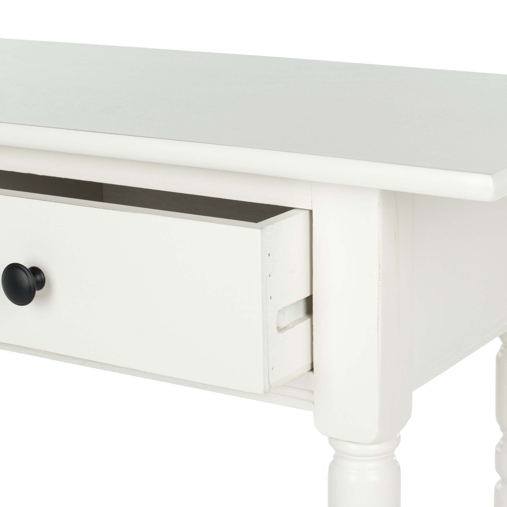 Most Recent Shop Safavieh Cape Cod Cream 2 Drawer Console Table – On Sale – Free With Regard To Natural 2 Drawer Shutter Coffee Tables (View 8 of 20)