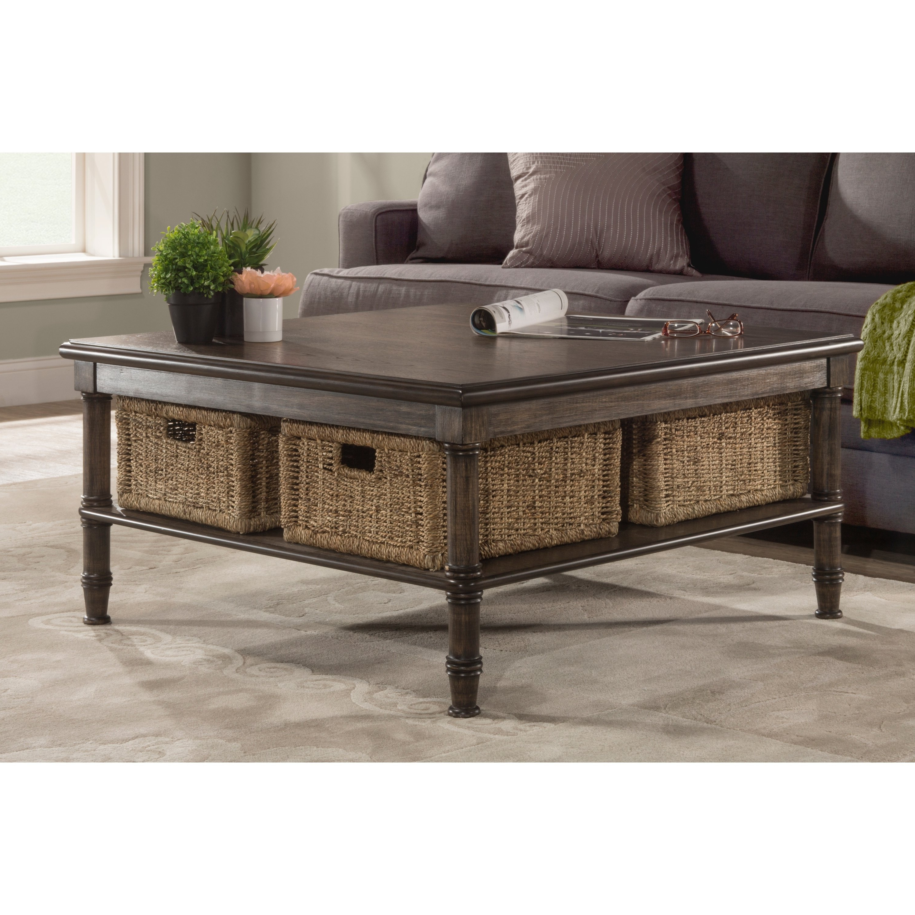 Most Recent Shop Seneca Coffee Table – 4 Baskets Included – Free Shipping Today Throughout Seneca Lift Top Cocktail Tables (View 2 of 20)