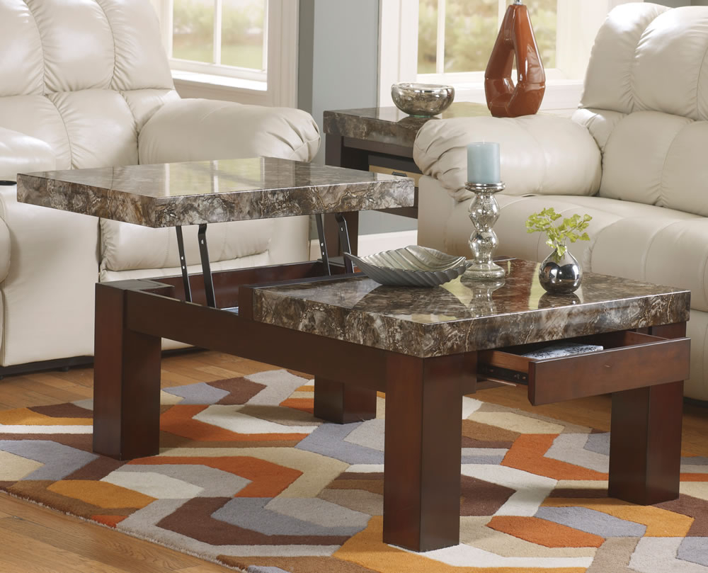 Most Recent Smart Large Round Marble Top Coffee Tables Inside Lift Marble Top Coffee Table (View 6 of 20)