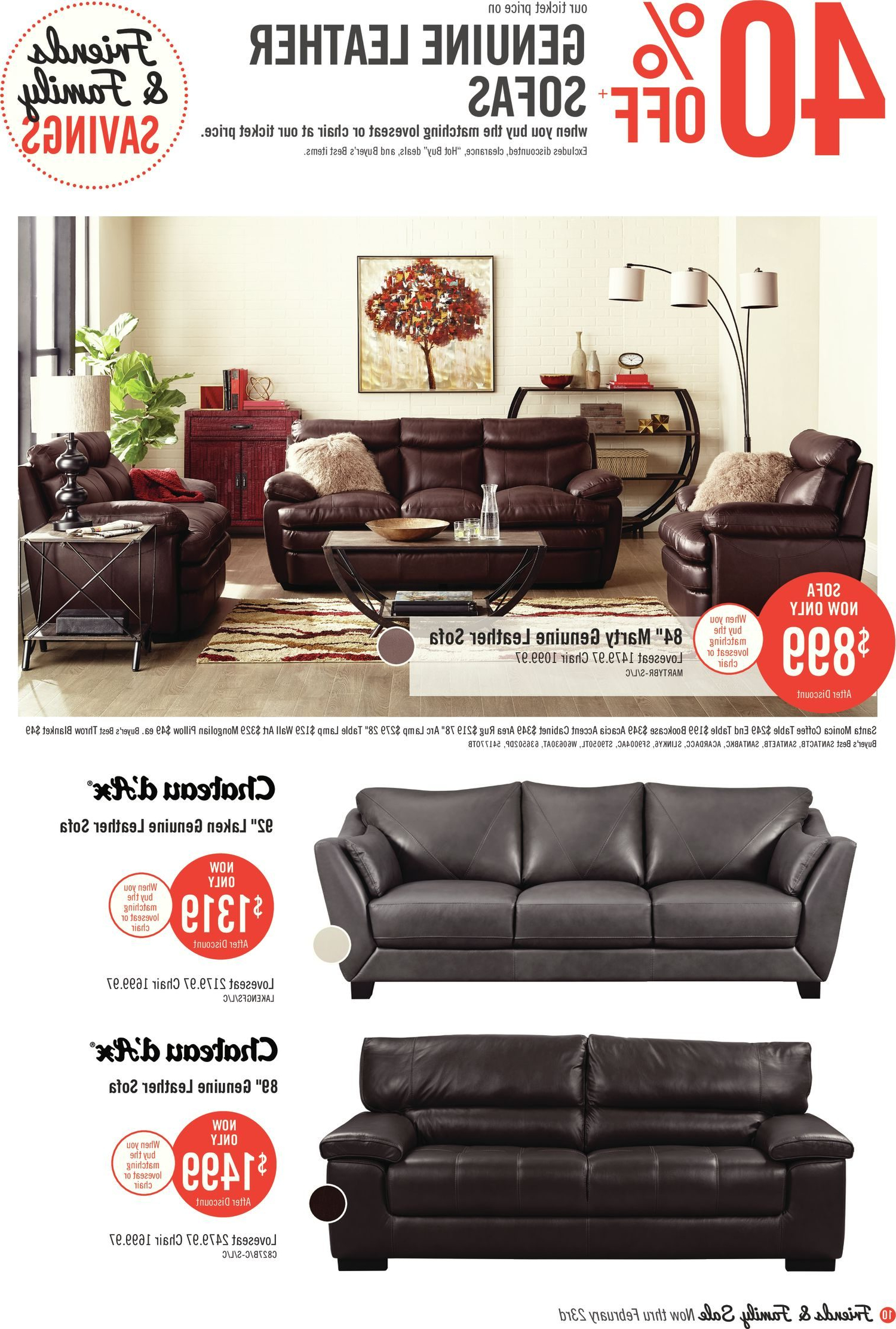 Most Recent The Brick Weekly Flyer – Friends & Family Savings Book – Feb 7 – 22 Throughout London Optical Reversible Sofa Chaise Sectionals (View 14 of 20)