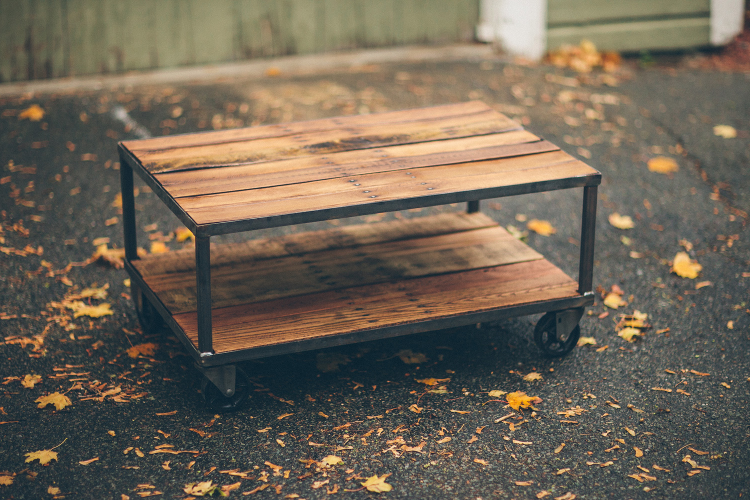 Most Recent Vintage Casters: Perfect For A Reclaimed Wood Coffee Table – With Autumn Cocktail Tables With Casters (View 13 of 20)