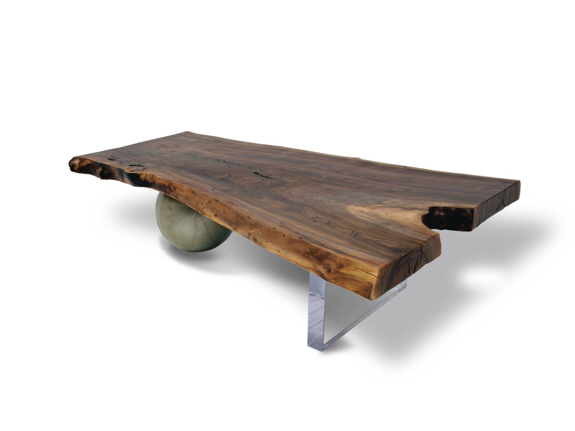 Most Recent Waxed Metal Coffee Tables Within Contemporary Coffee Table / Wooden / In Reclaimed Material – Walnut (View 8 of 20)