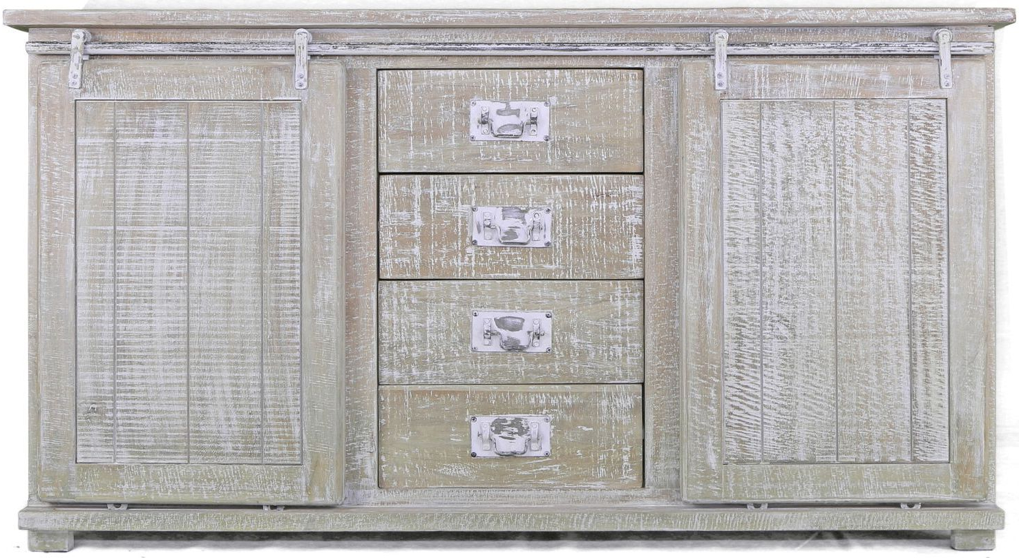 Most Recent White Wash 4 Door Sideboards Regarding Shabby Chic White Washed Distressed Solid Rustic Mango Wood 2 Door (View 5 of 20)