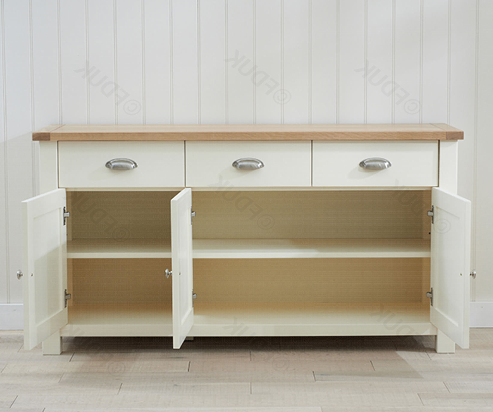 Most Recently Released 3 Door 3 Drawer Metal Inserts Sideboards Inside Mark Harris Sandringham (View 12 of 20)