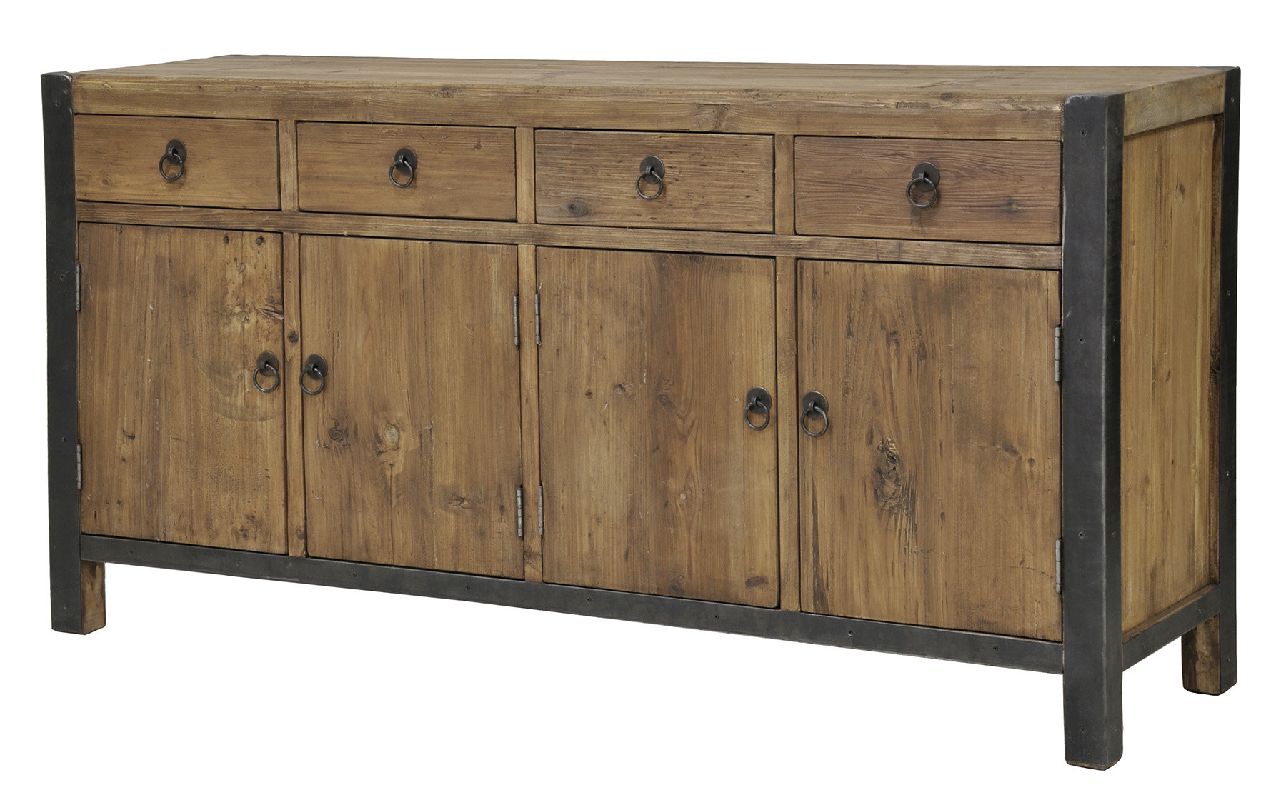 Most Recently Released 3 Door 3 Drawer Metal Inserts Sideboards With Woodstock Sideboard & Reviews (View 13 of 20)