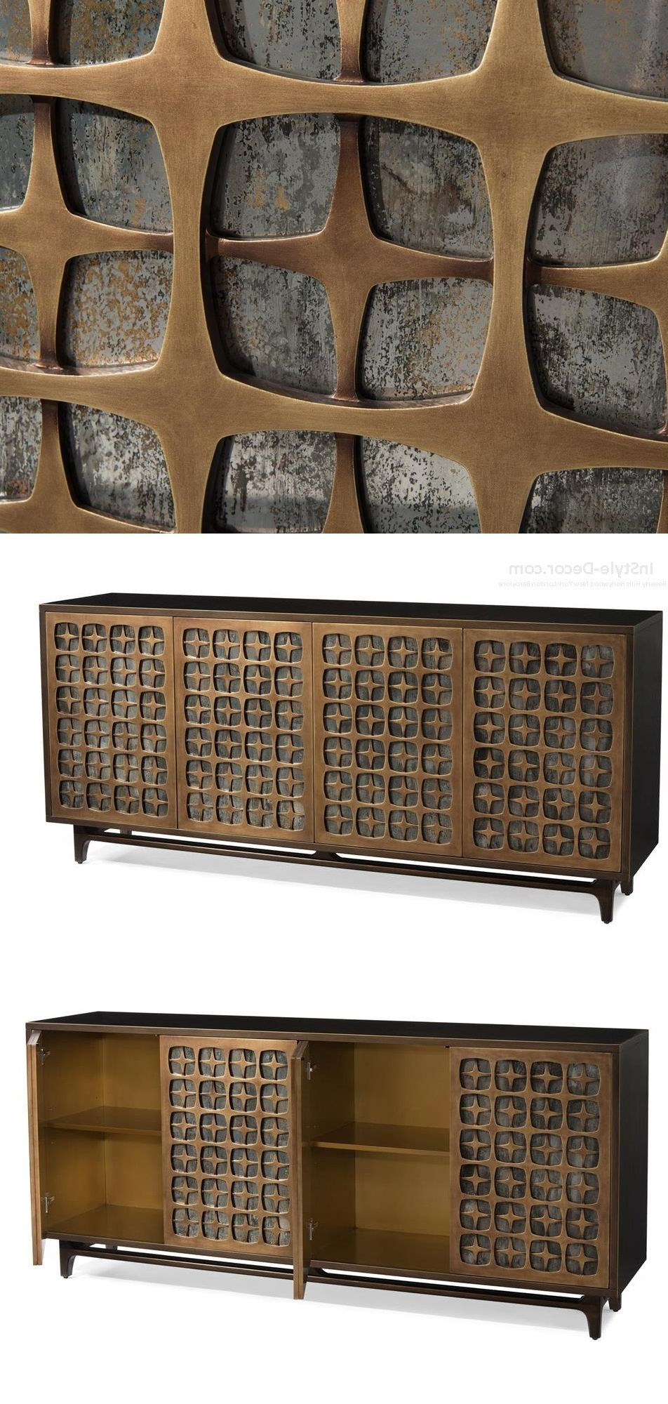 "Most Recently Released Buffet"" ""Sideboard"" ""Credenza"" Designswww.instyle Decor In 2 Door/2 Drawer Cast Jali Sideboards (Gallery 1 of 20)"