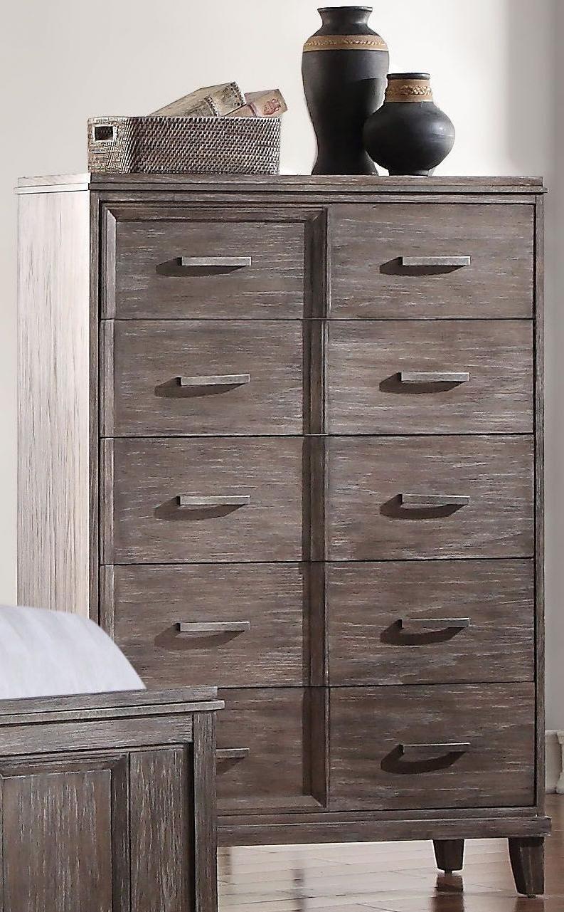 Most Recently Released Burnt Oak Wood Sideboards Regarding Acme Bayonne Burnt Oak Panel Bedroom Set – Bayonne Collection: (View 19 of 20)