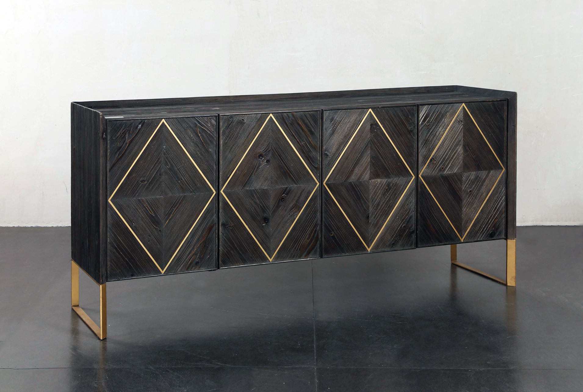 Most Recently Released Corrugated Natural 6 Door Sideboards For Lockwood Sideboard In (View 17 of 20)