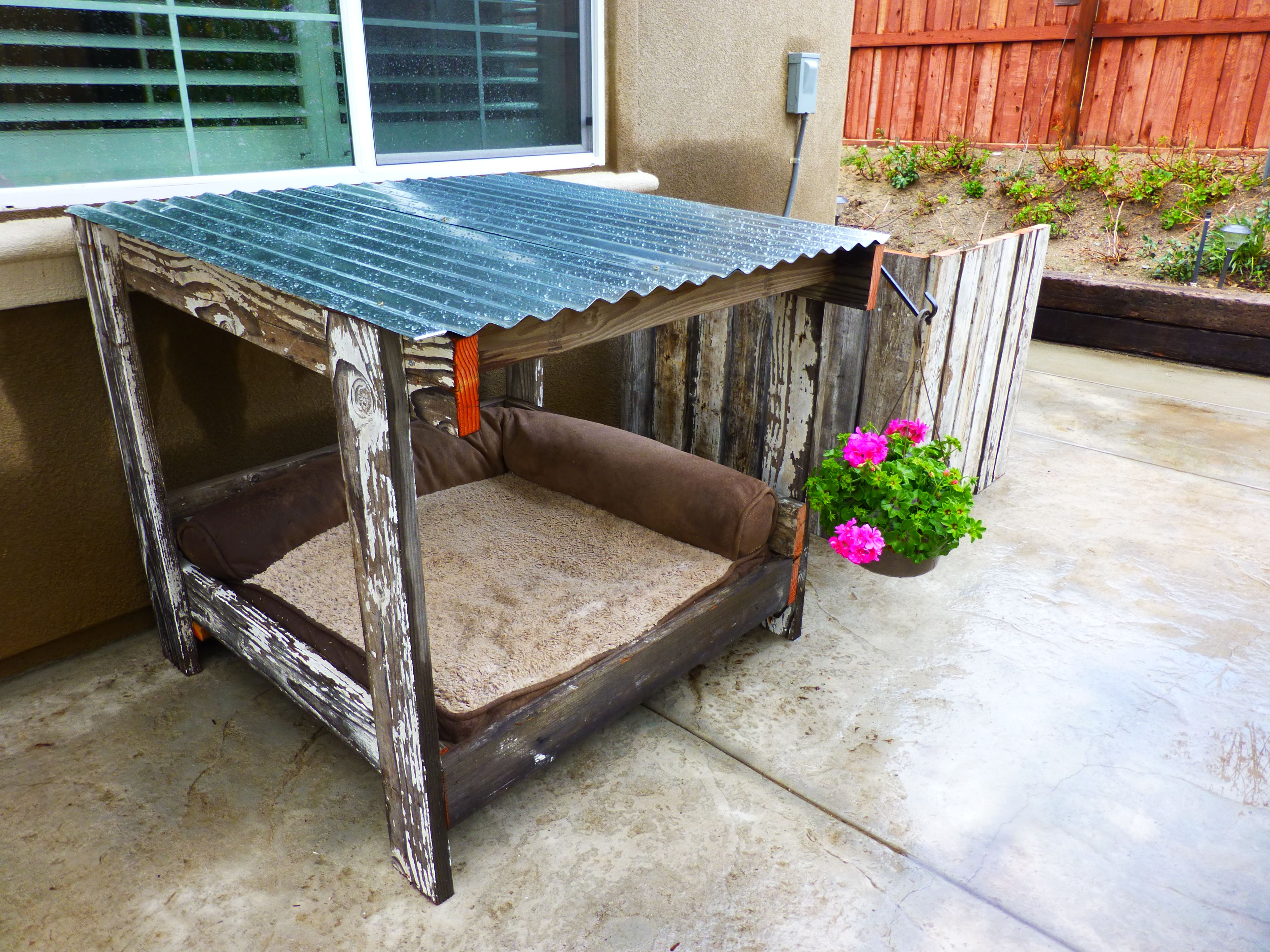Most Recently Released Corrugated White Wash Barbox Coffee Tables Intended For Dog House, Old Fence Wood And A Pallet = Dog House,a/c Cover,and (View 18 of 20)