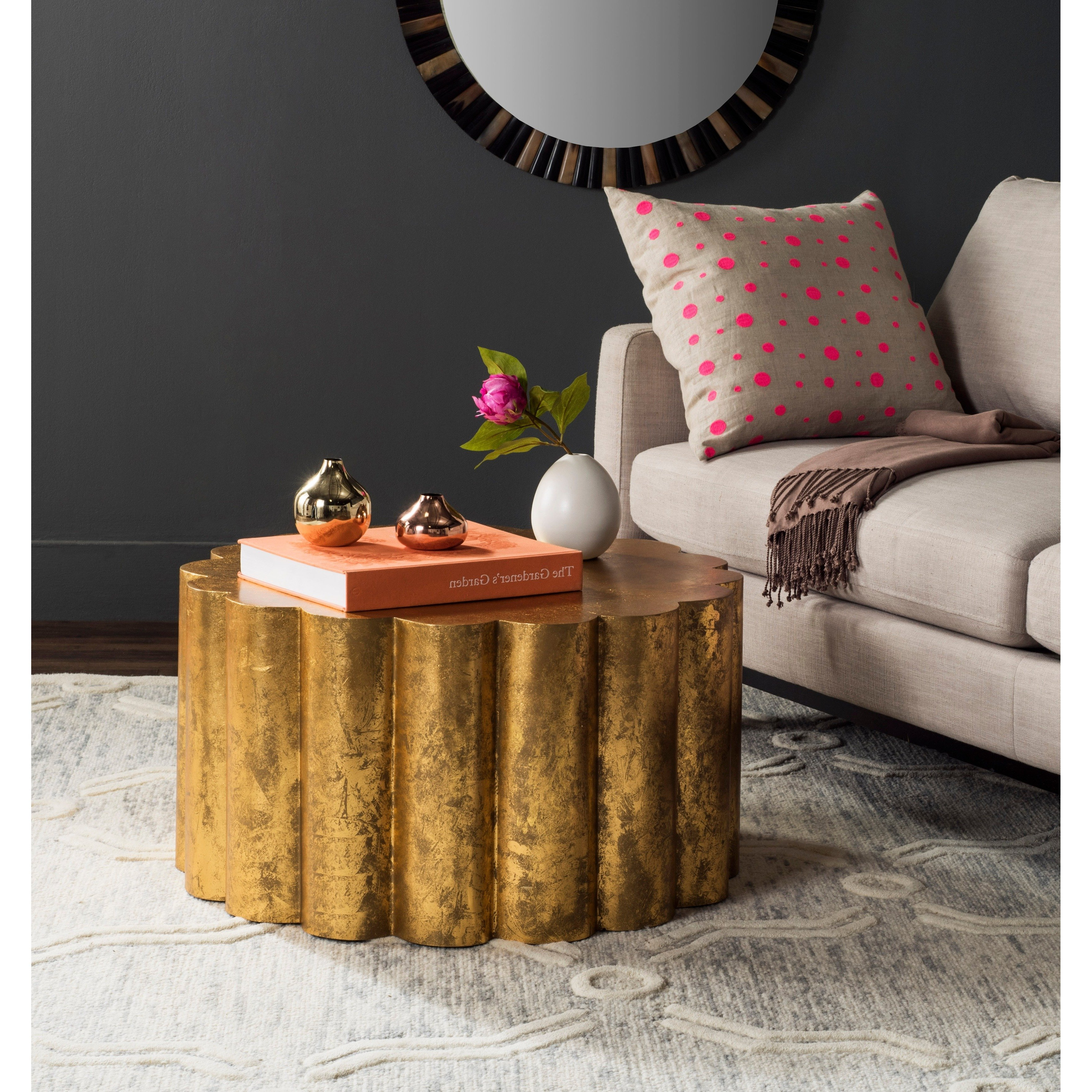 Most Recently Released Cuff Hammered Gold Coffee Tables In Shop Safavieh Miriam Gold Coffee Table – On Sale – Free Shipping (View 13 of 20)