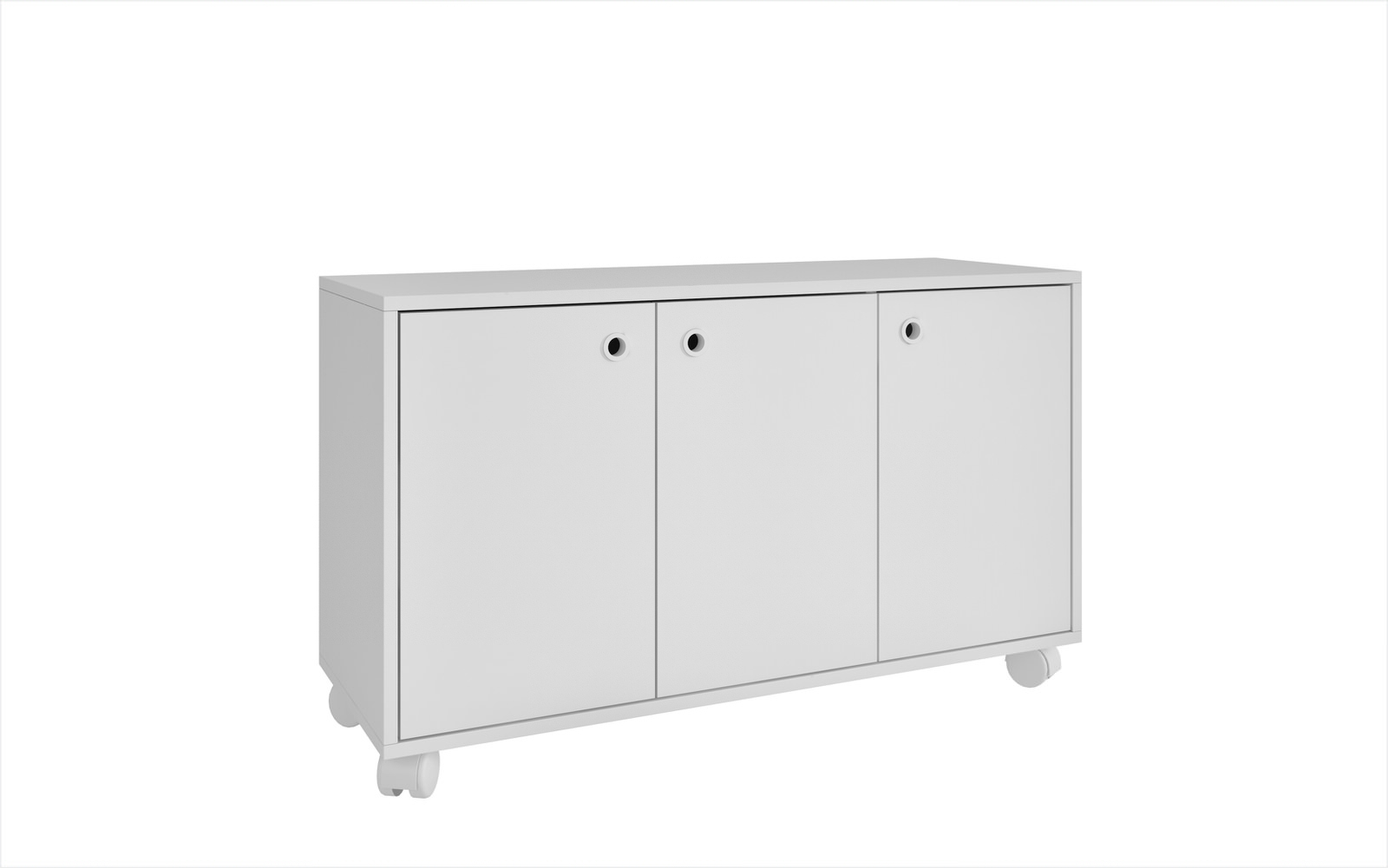 Most Recently Released Dali White 3 Shelf Cabinetmanhattan Comfort Pertaining To Charcoal Finish 4 Door Jumbo Sideboards (View 12 of 20)
