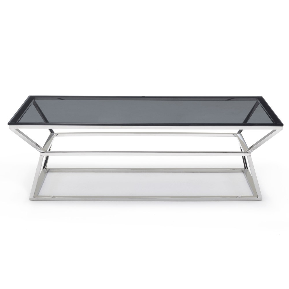 Most Recently Released Elba Cocktail Tables Throughout Houseology Collection Malibu Coffee Table Grey Smoke Glass Top (View 14 of 20)