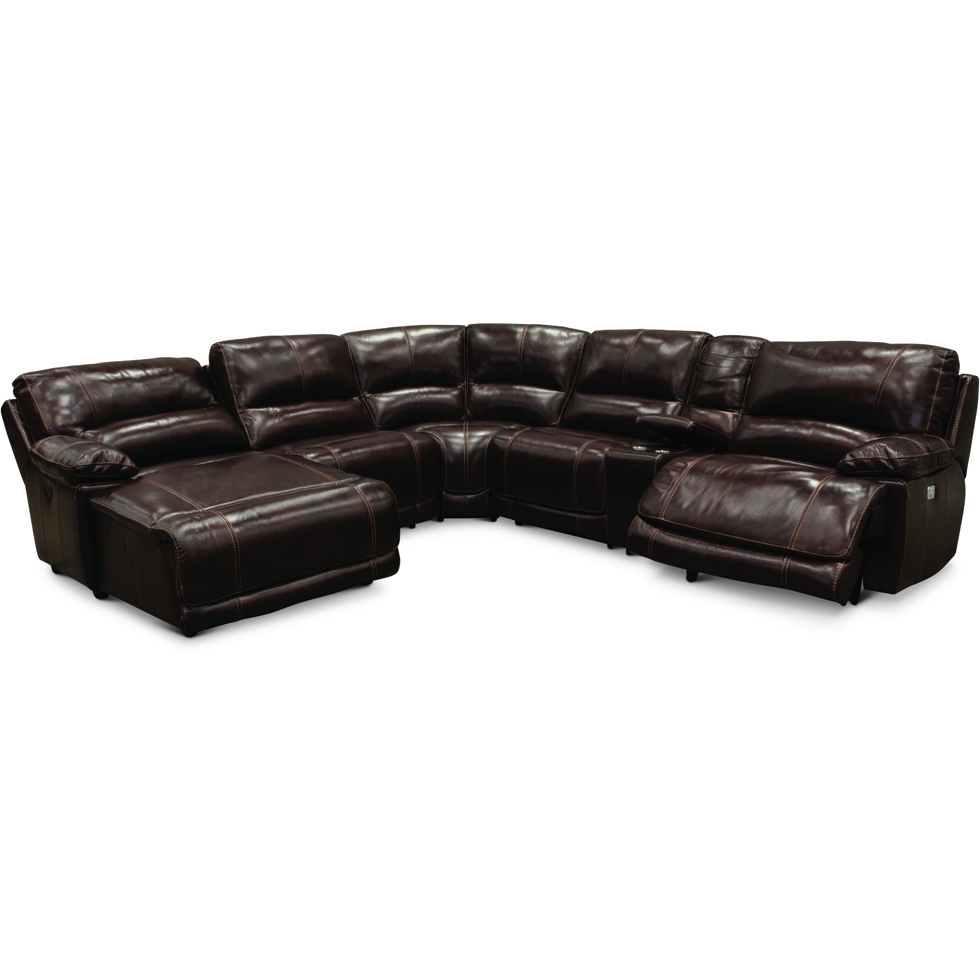 Most Recently Released Jackson 6 Piece Power Reclining Sectionals With Sleeper Within Burgundy Leather Match Power Reclining Sectional Sofa – Brant (View 4 of 20)
