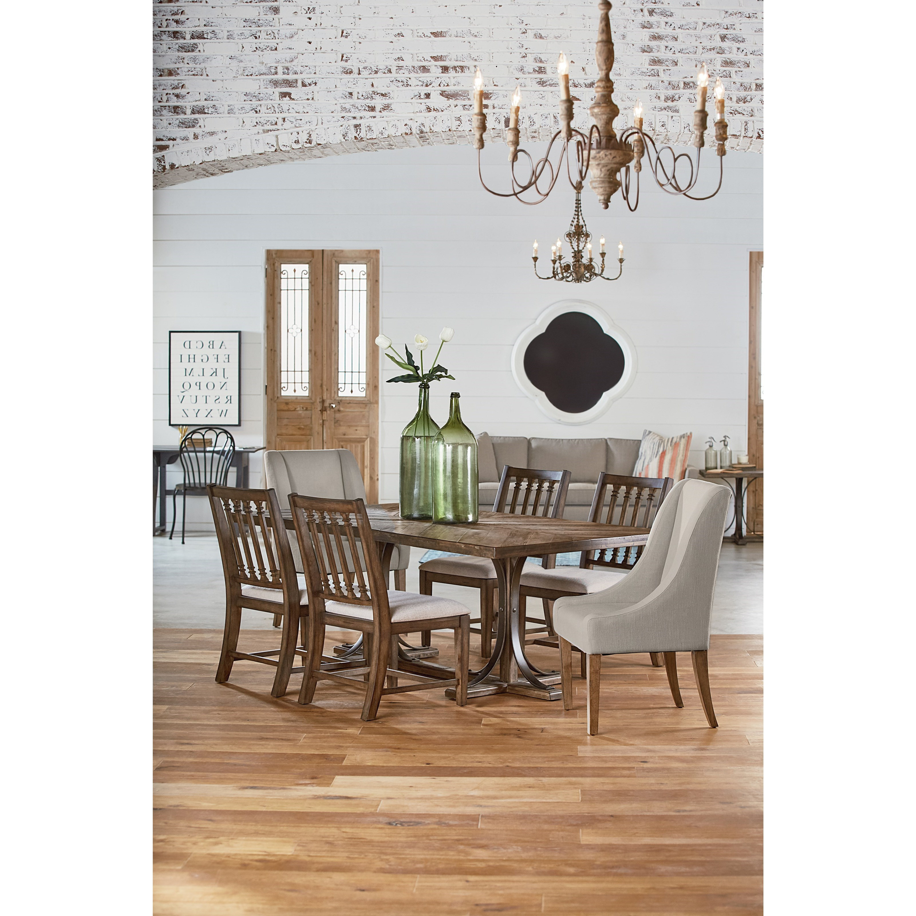 Most Recently Released Magnolia Home Iron Trestle Cocktail Tables Throughout 6 Pc (View 14 of 20)