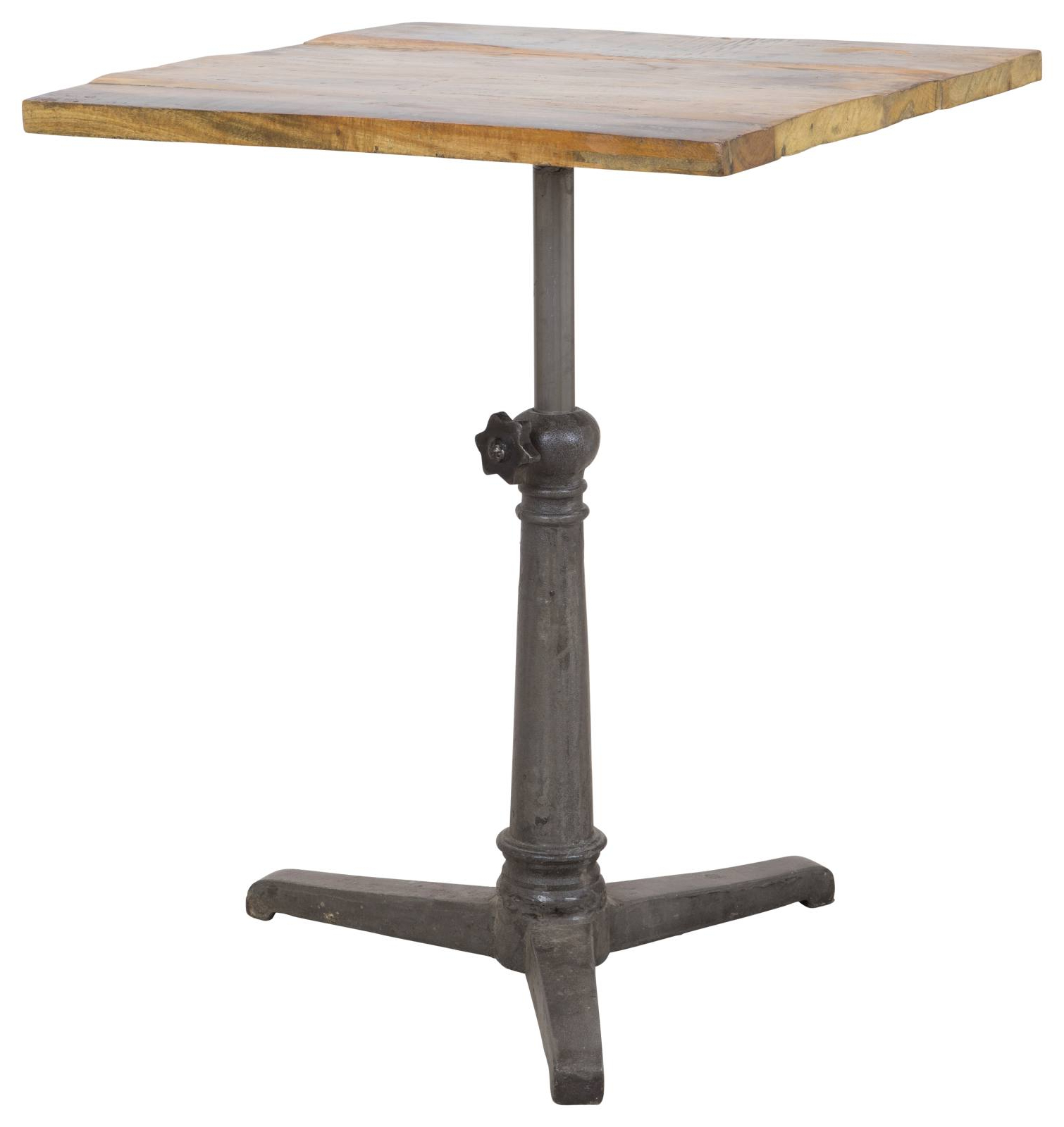 Most Recently Released Naveen Coffee Tables Pertaining To Small Naveen Reclaimed Wood & Iron Café Table (View 8 of 20)