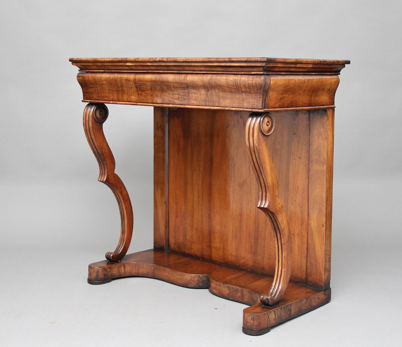 Most Recently Released Palazzo 87 Inch Sideboards Pertaining To 19th Century Continental Walnut Console Table For Sale At Pamono (View 12 of 20)