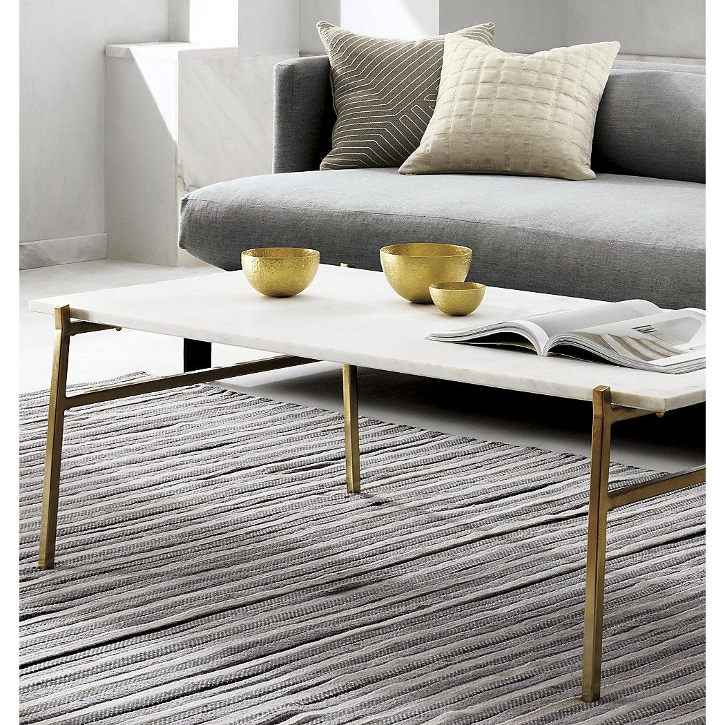 Most Recently Released Shop Slab Large Marble Coffee Table With Brass Base (View 2 of 20)