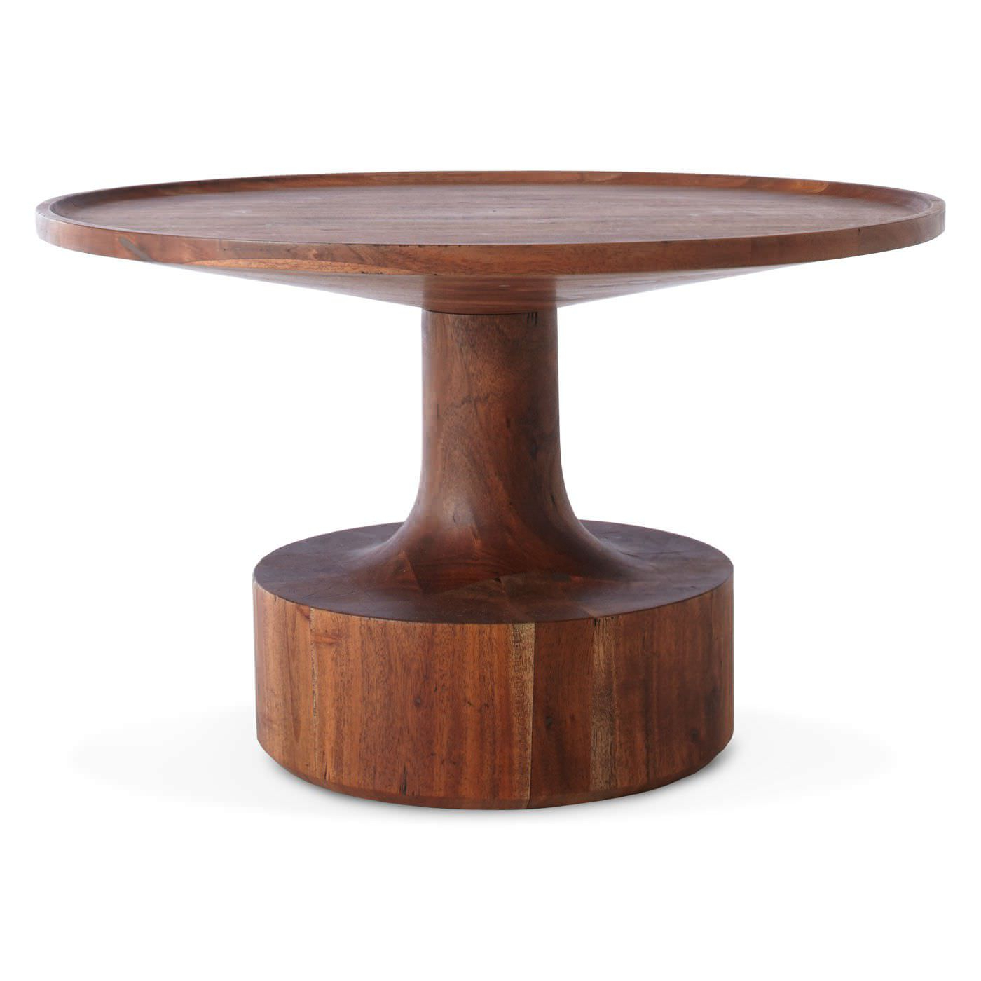 Most Recently Released Swell Round Coffee Tables With Regard To Contemporary Coffee Table / Solid Wood / Round – Turn – Blu Dot (View 7 of 20)