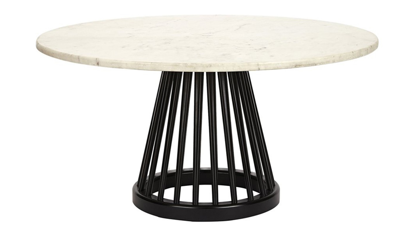 Most Recently Released Tom Dixon Fan Large Table Marble Black Screw Base (View 15 of 20)