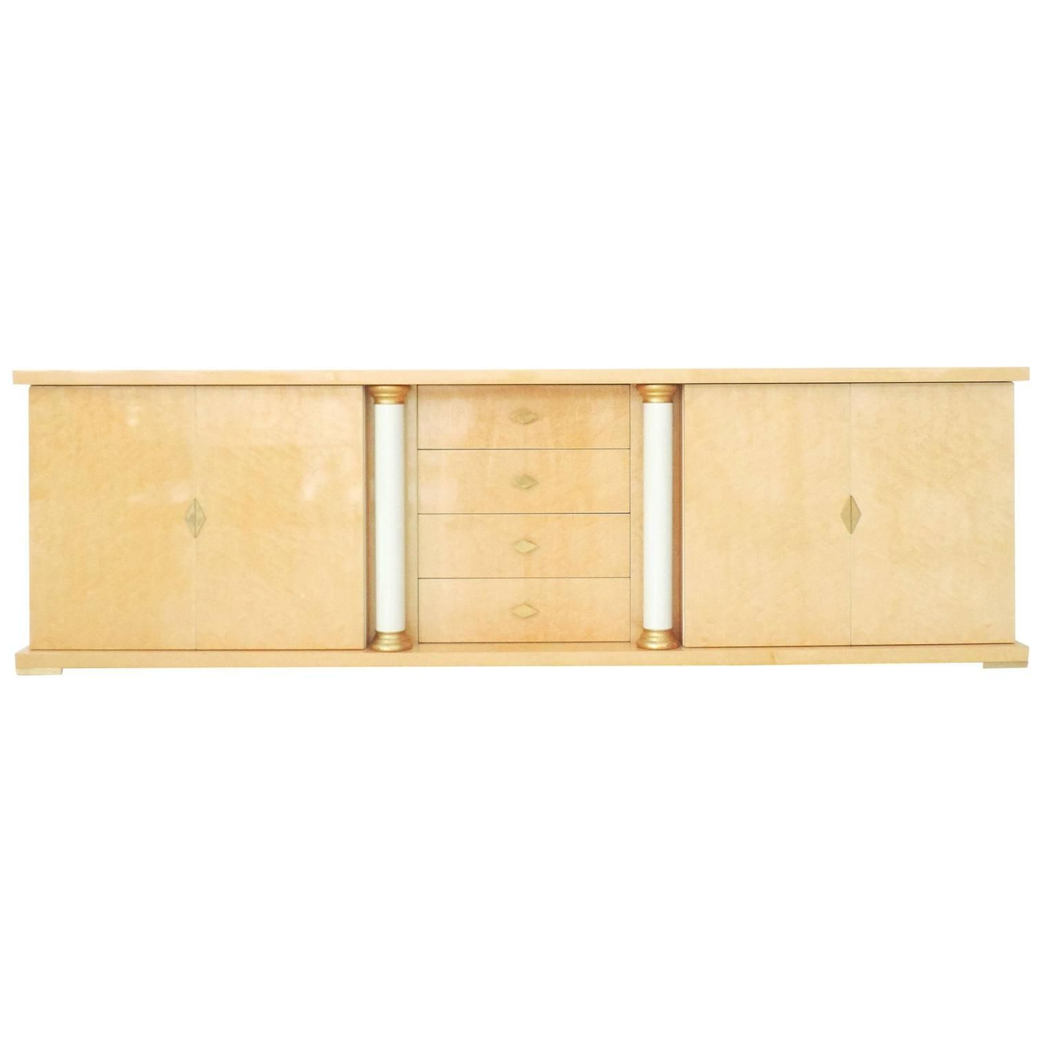 Most Recently Released Turri Italian Bird's Eye Maple Brass Gold Sideboard Credenza In Rossi Large Sideboards (View 10 of 20)