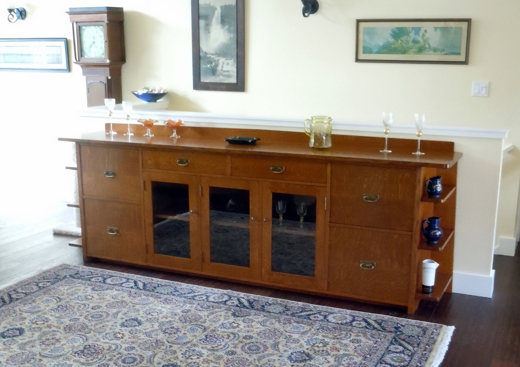 Most Recently Released Voorhees Craftsman Mission Oak Furniture – Custom 9 Foot Long Arts With Craftsman Sideboards (View 14 of 20)