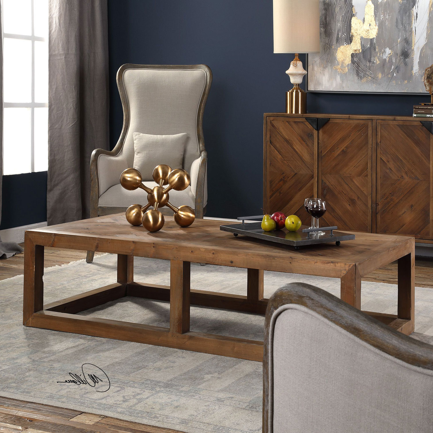 Most Recently Released Wyatt Cocktail Tables In Uttermost Wyatt Wooden Coffee Table  (View 8 of 20)
