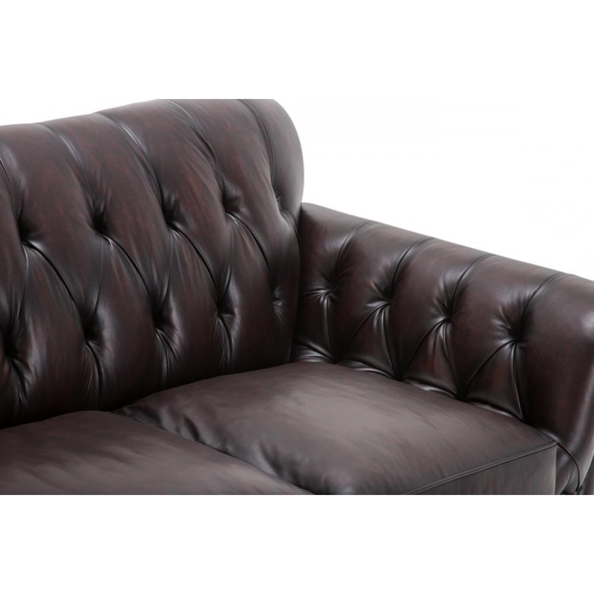 Most Up To Date Aico Michael Amini Freestanding Kensington Leather Love Seat In Merlot For Marcus Oyster 6 Piece Sectionals With Power Headrest And Usb (View 13 of 20)