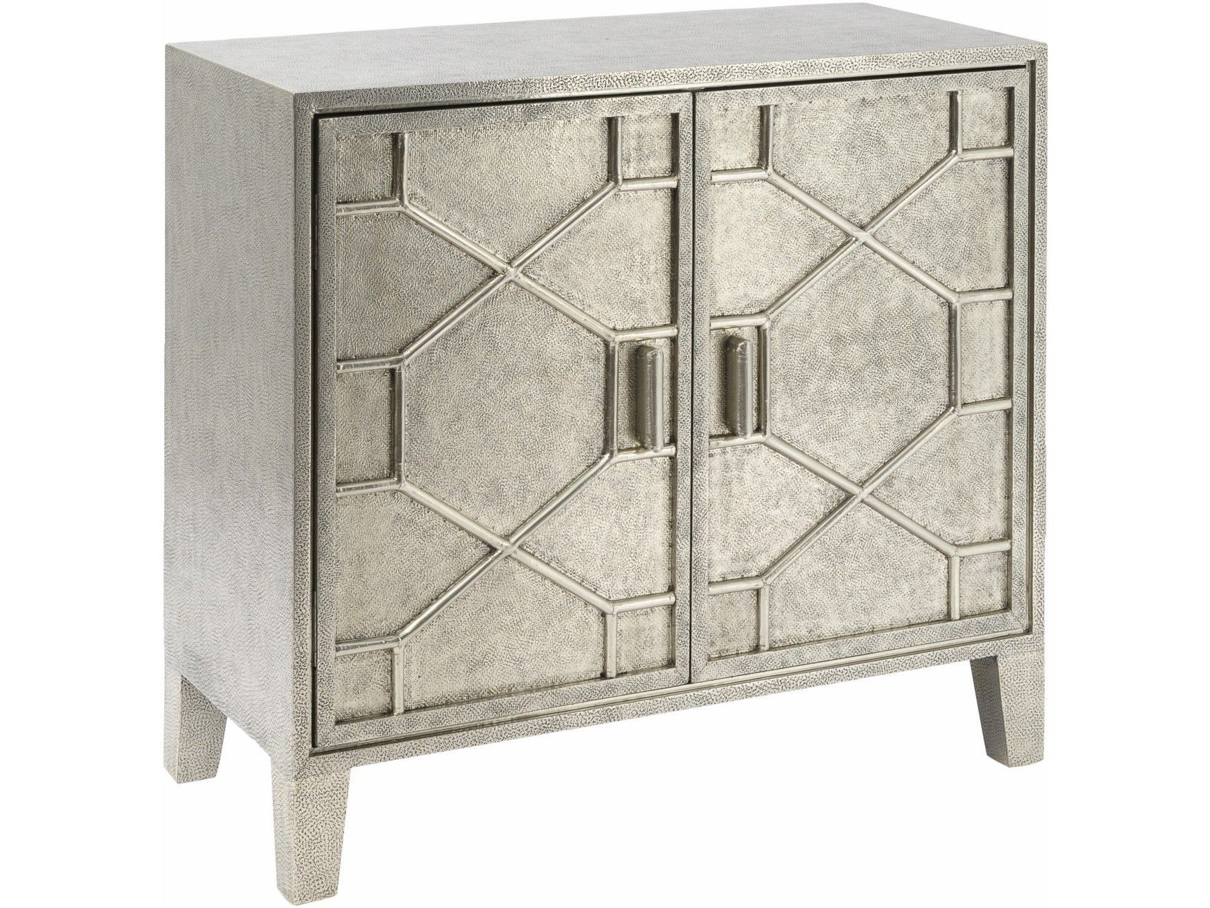 Most Up To Date Astor Hand Embossed Metal 2 Door Cabinet (View 5 of 20)