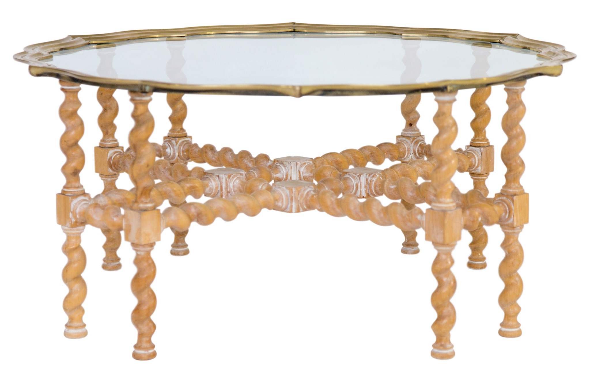 Most Up To Date Barley Twist Coffee Tables Within Barley Twist Brass And Glass Coffee Table – Janney's Collection (View 15 of 20)