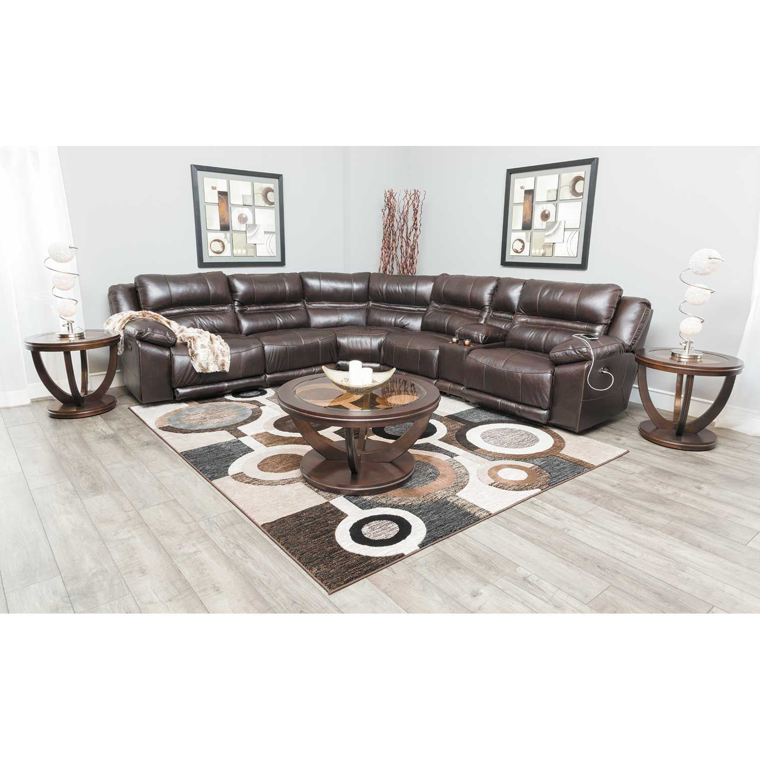 Most Up To Date Bergamo 6 Piece Power Reclining Sectional W/adjustable Headrest And With Jackson 6 Piece Power Reclining Sectionals With  Sleeper (View 11 of 20)