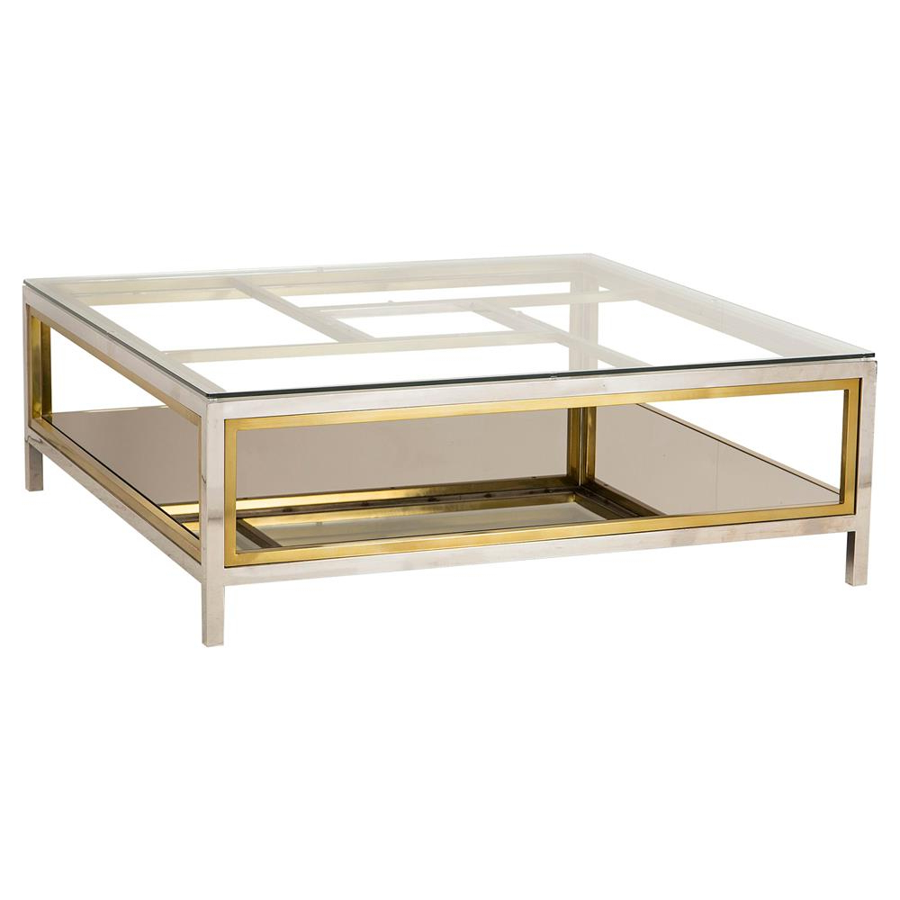 Most Up To Date Boyd Windmill Regency Glass Silver Gold Coffee Table (View 9 of 20)