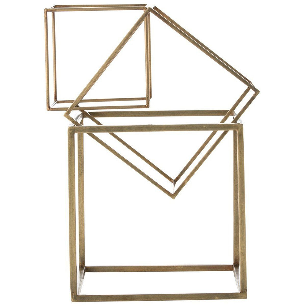 Most Up To Date Brass Iron Cube Tables Within These 3 Antique Brass Iron Cubes Are Each A Different Size–the Two (View 9 of 20)
