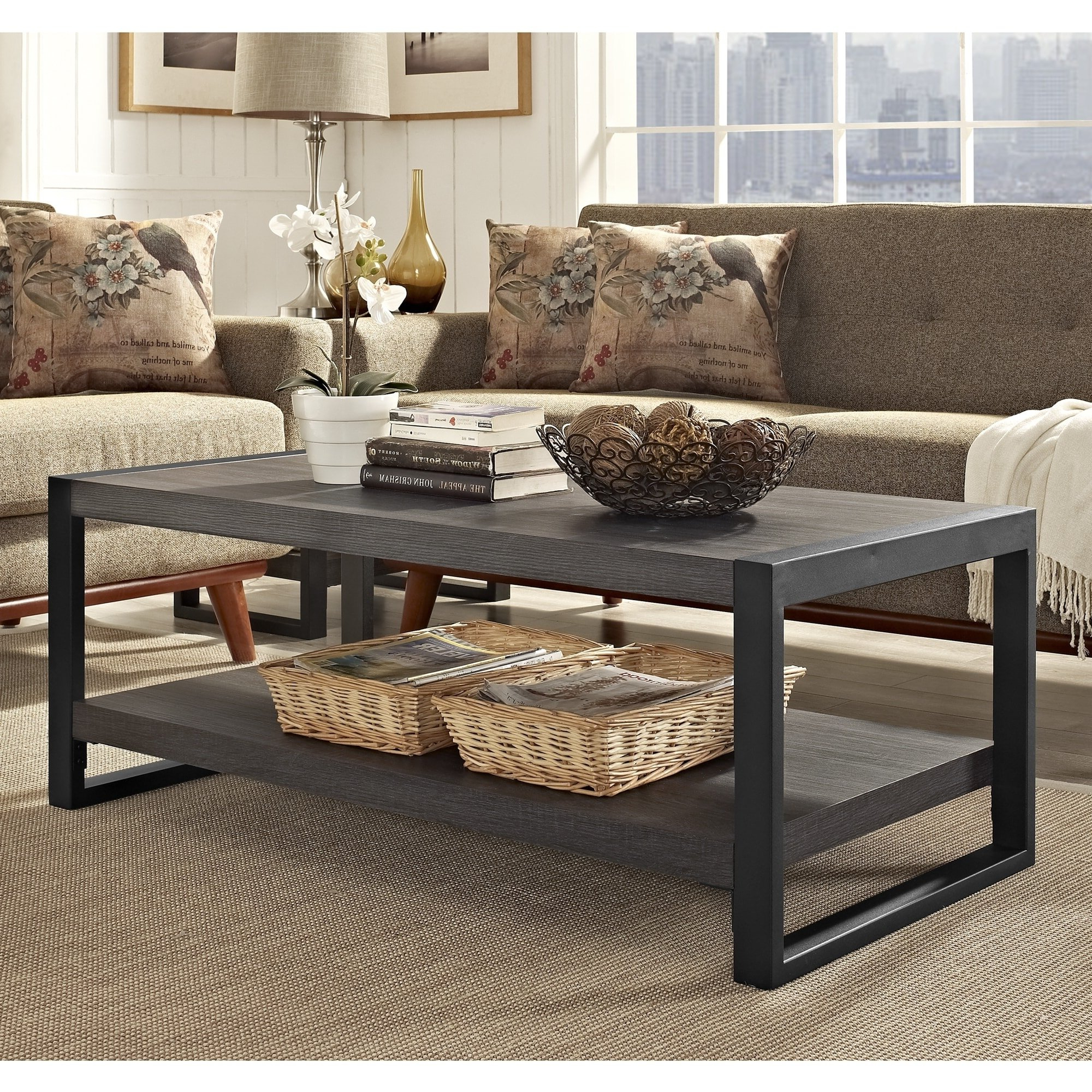 """Most Up To Date Chevron 48"""" Coffee Tables Pertaining To Shop Angelo:home 48"""" Coffee Table – 48 X 24 X 18h – On Sale – Free (View 4 of 19)"""
