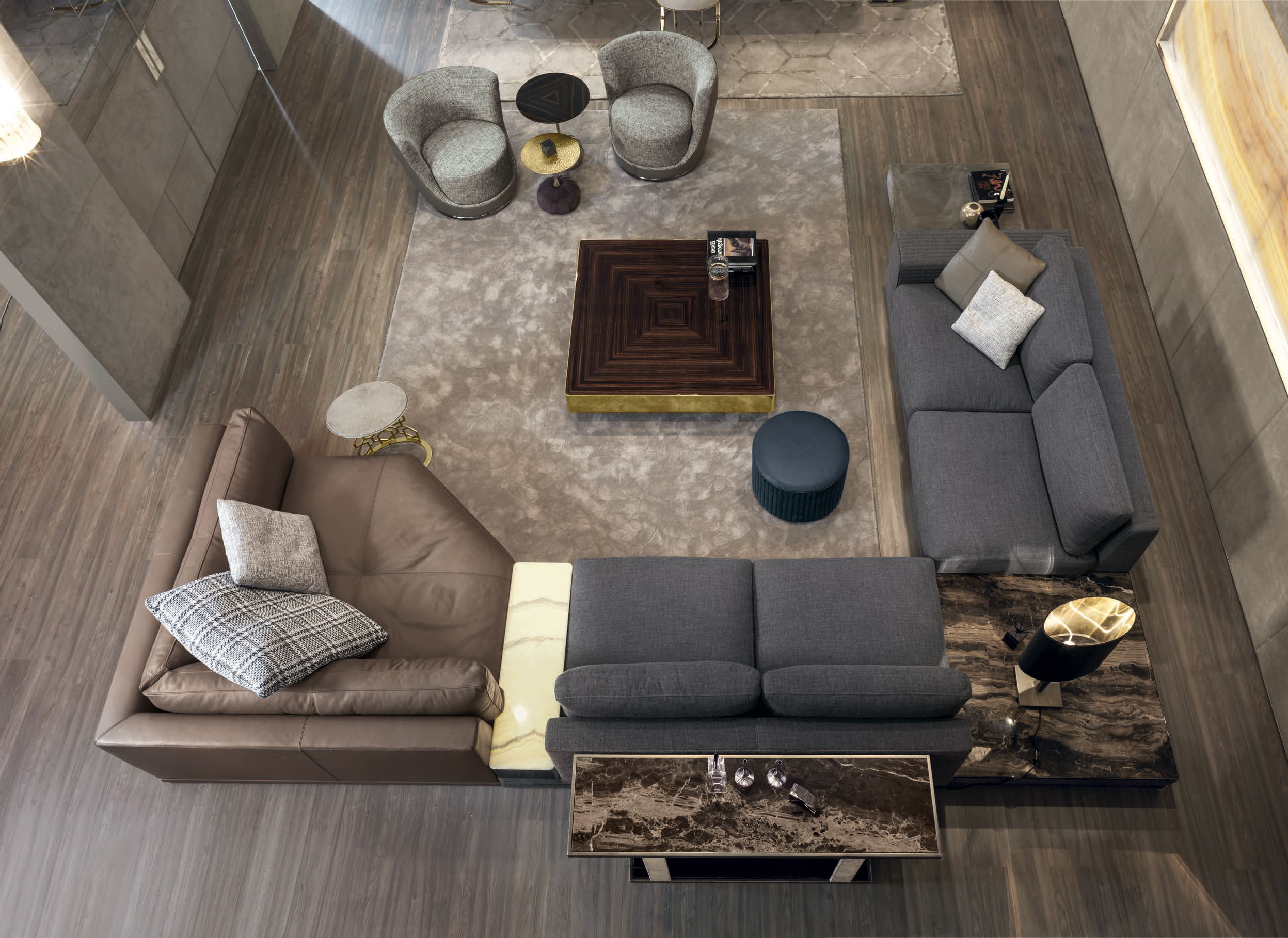 Most Up To Date Cohen Down 2 Piece Sectionals Regarding Luxury Italian Designer Cohen Sectional – Italian Designer & Luxury (View 17 of 20)