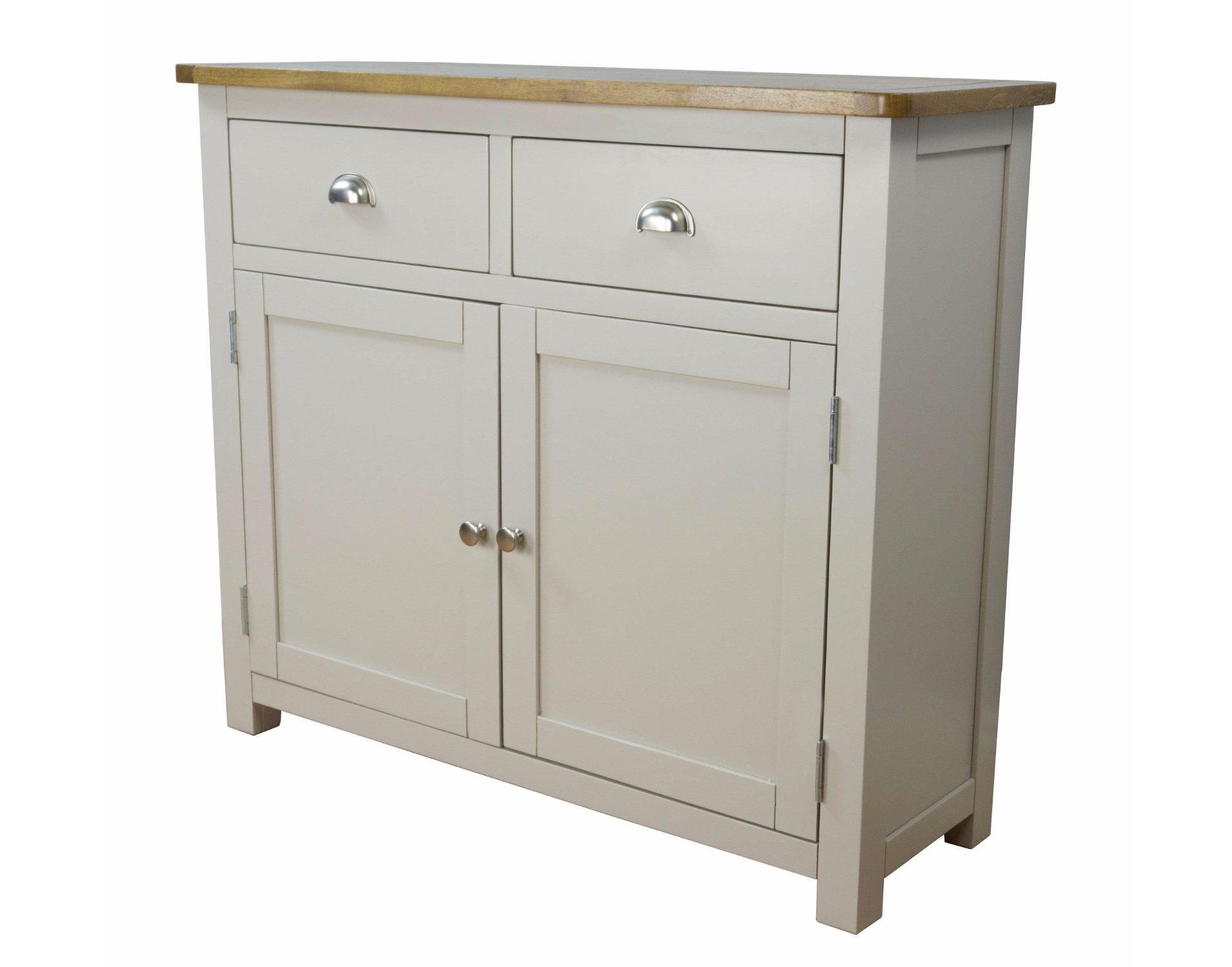 Most Up To Date Dartmouth Painted Oak 2 Door 2 Drawer Sideboard – Sideboards Inside Tobias 4 Door Sideboards (View 17 of 20)