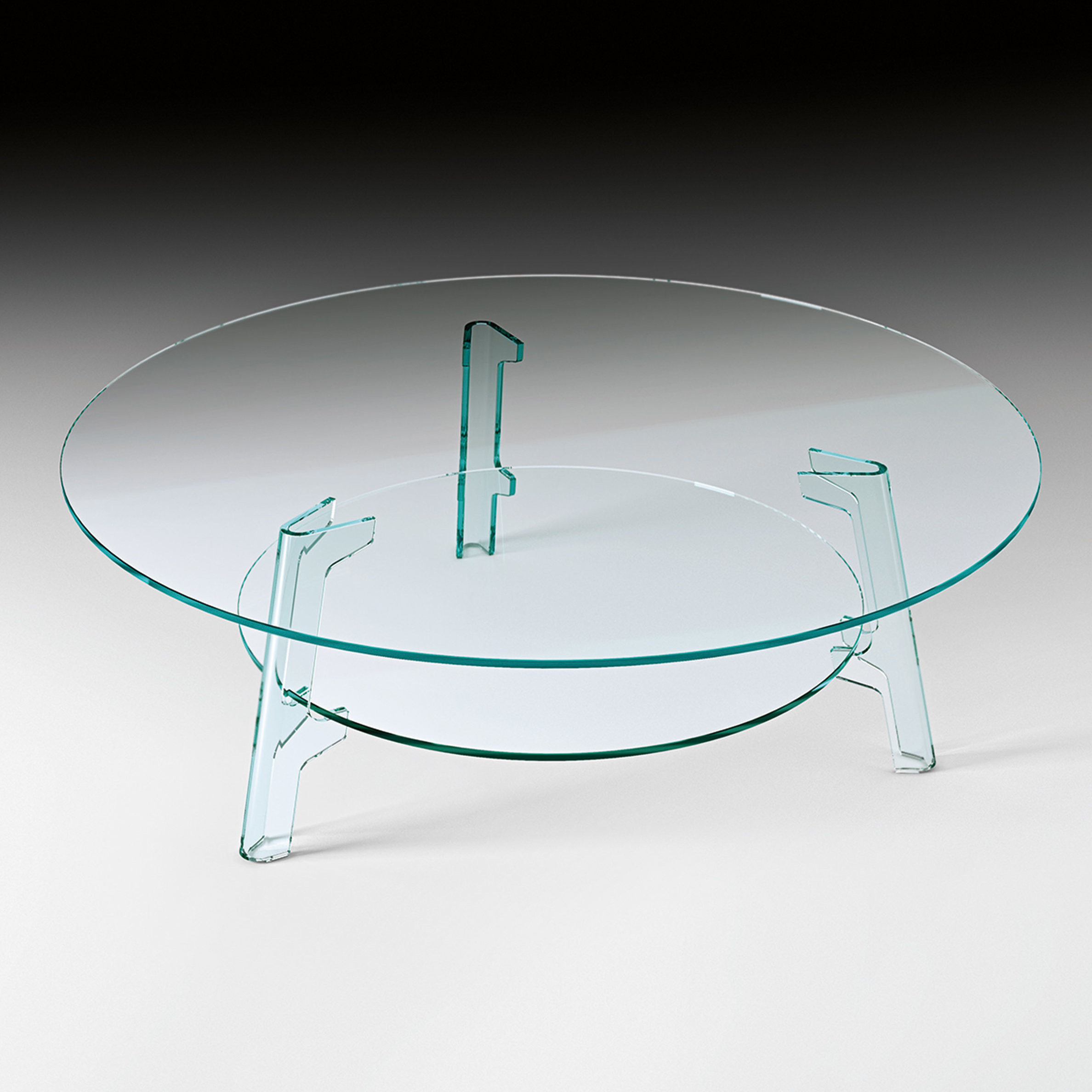 Most Up To Date Fiam Flute Coffee Table With Magazine Rack (View 15 of 20)