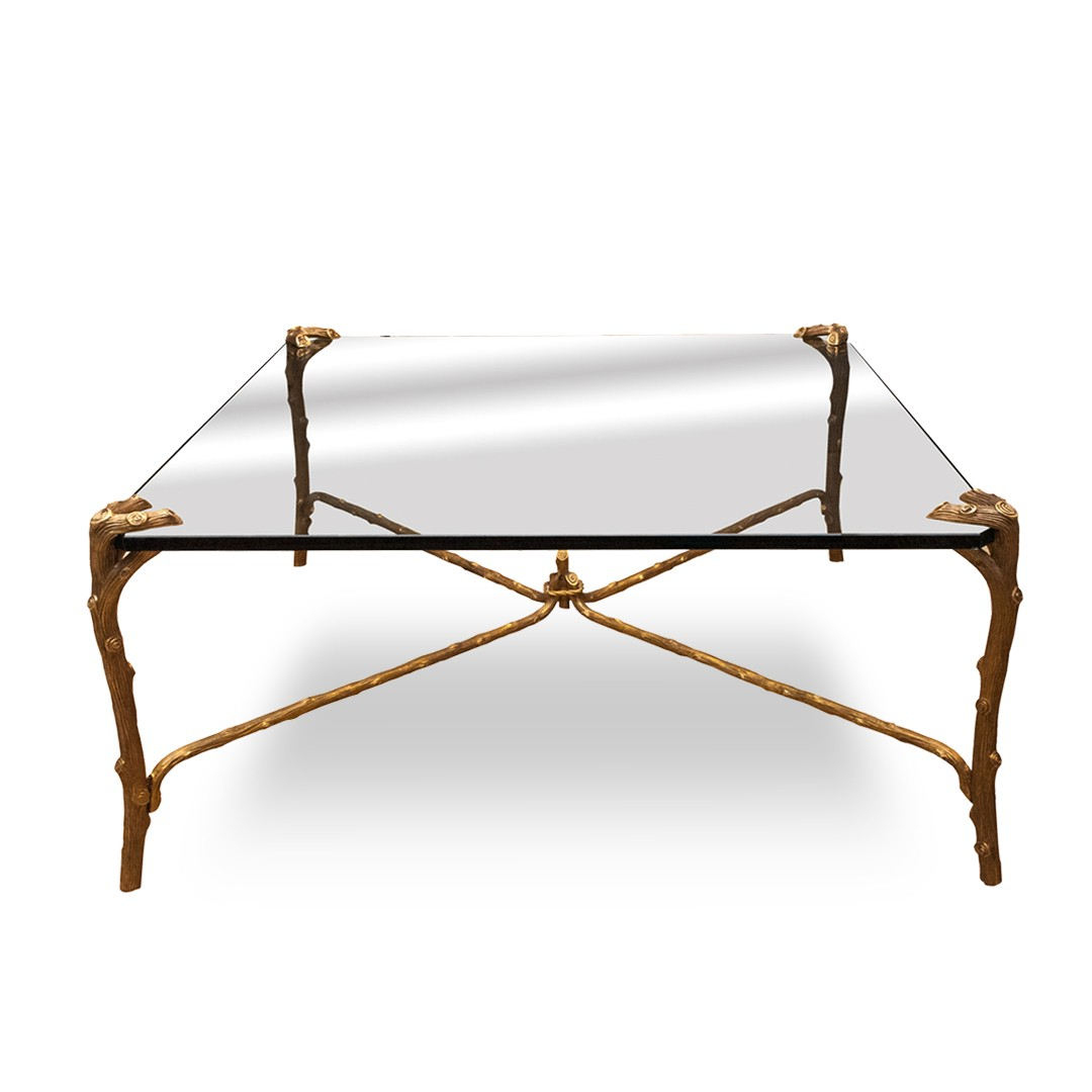 Most Up To Date Gold Plated Faux Bois Coffee Table (View 12 of 20)