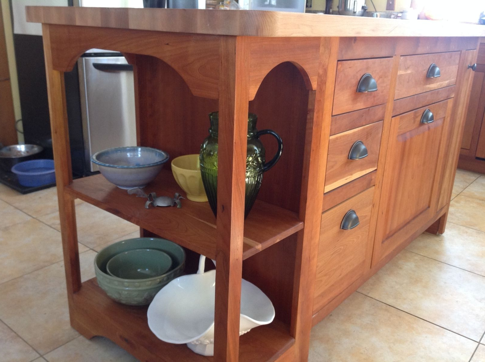 Most Up To Date Hand Crafted Custom Designed Cherry Island With Maple Butcher Block With Hartigan 2 Door Sideboards (View 14 of 20)