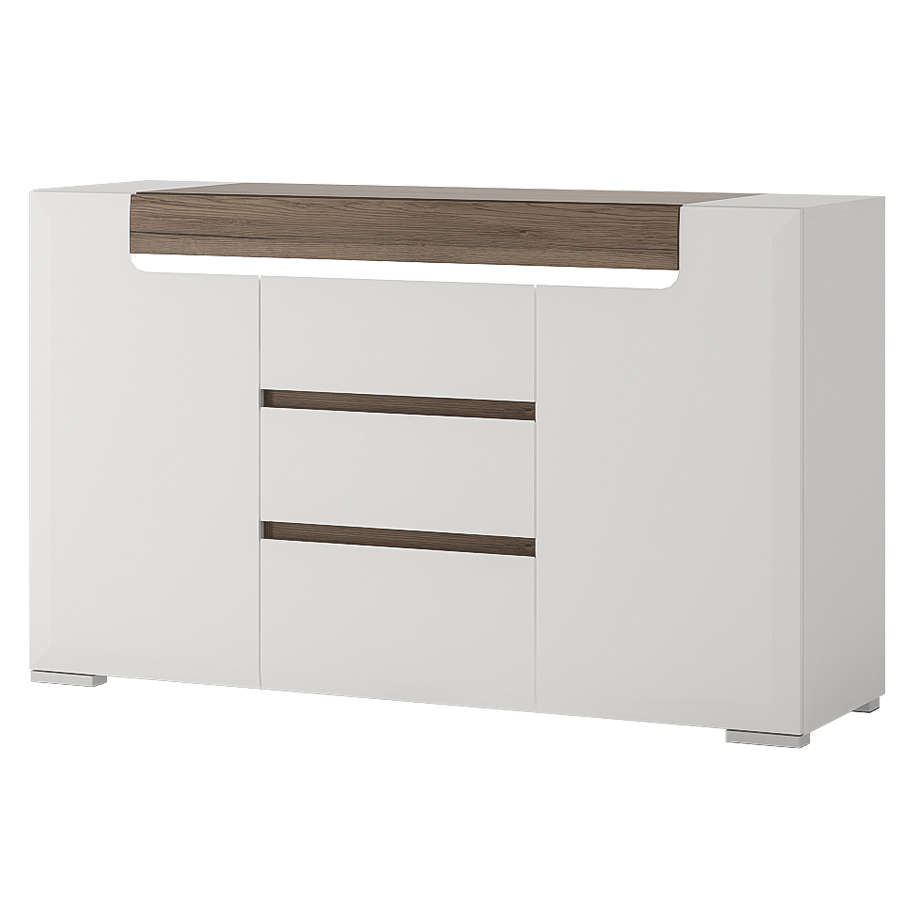 Most Up To Date Hazelwood Home Betty 2 Door 3 Drawer Sideboard (Gallery 12 of 20)