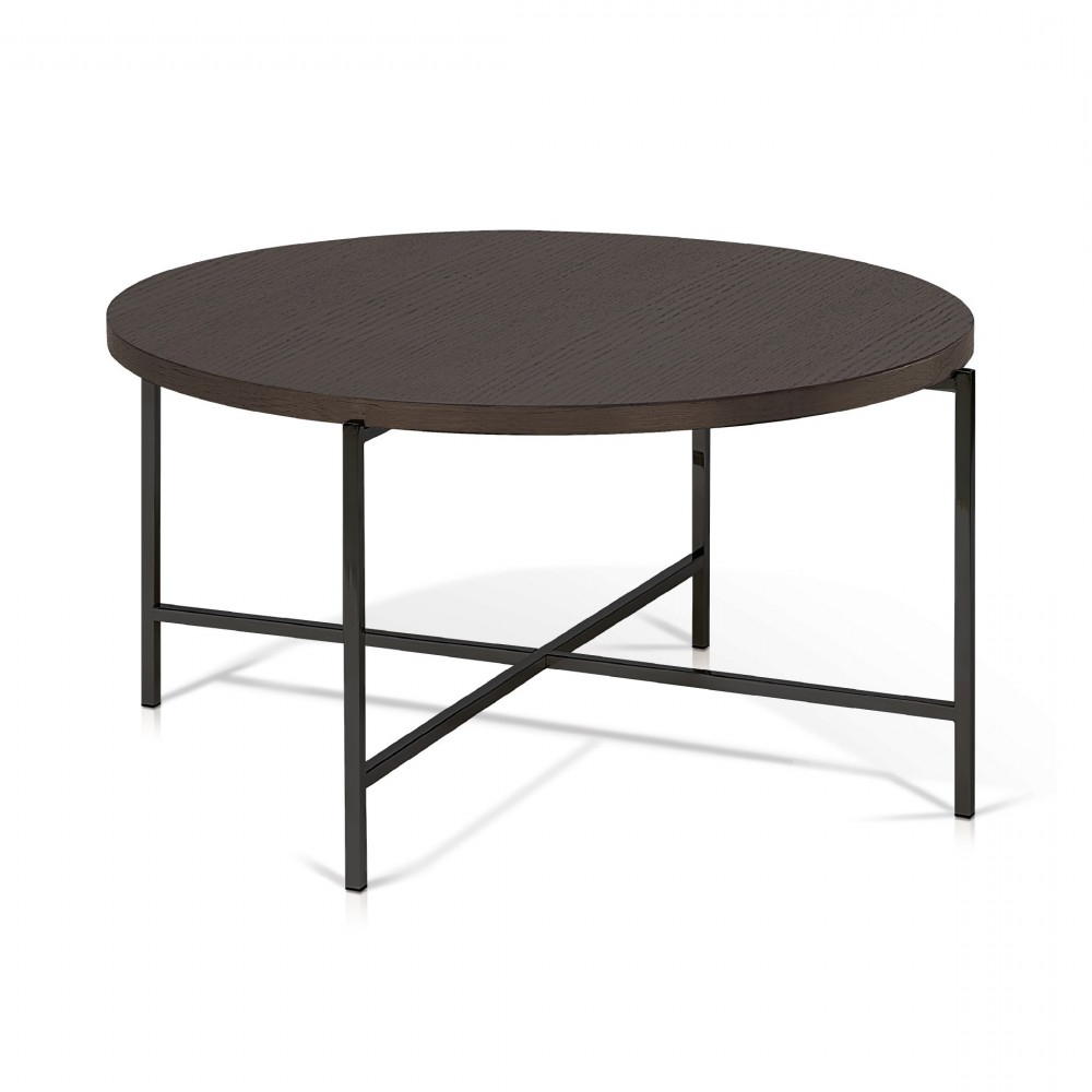 Most Up To Date Korson Bergen Coffee Table Smoked Oak Powder Coated Gunmetal Gray With Regard To Smoked Oak Coffee Tables (View 9 of 20)