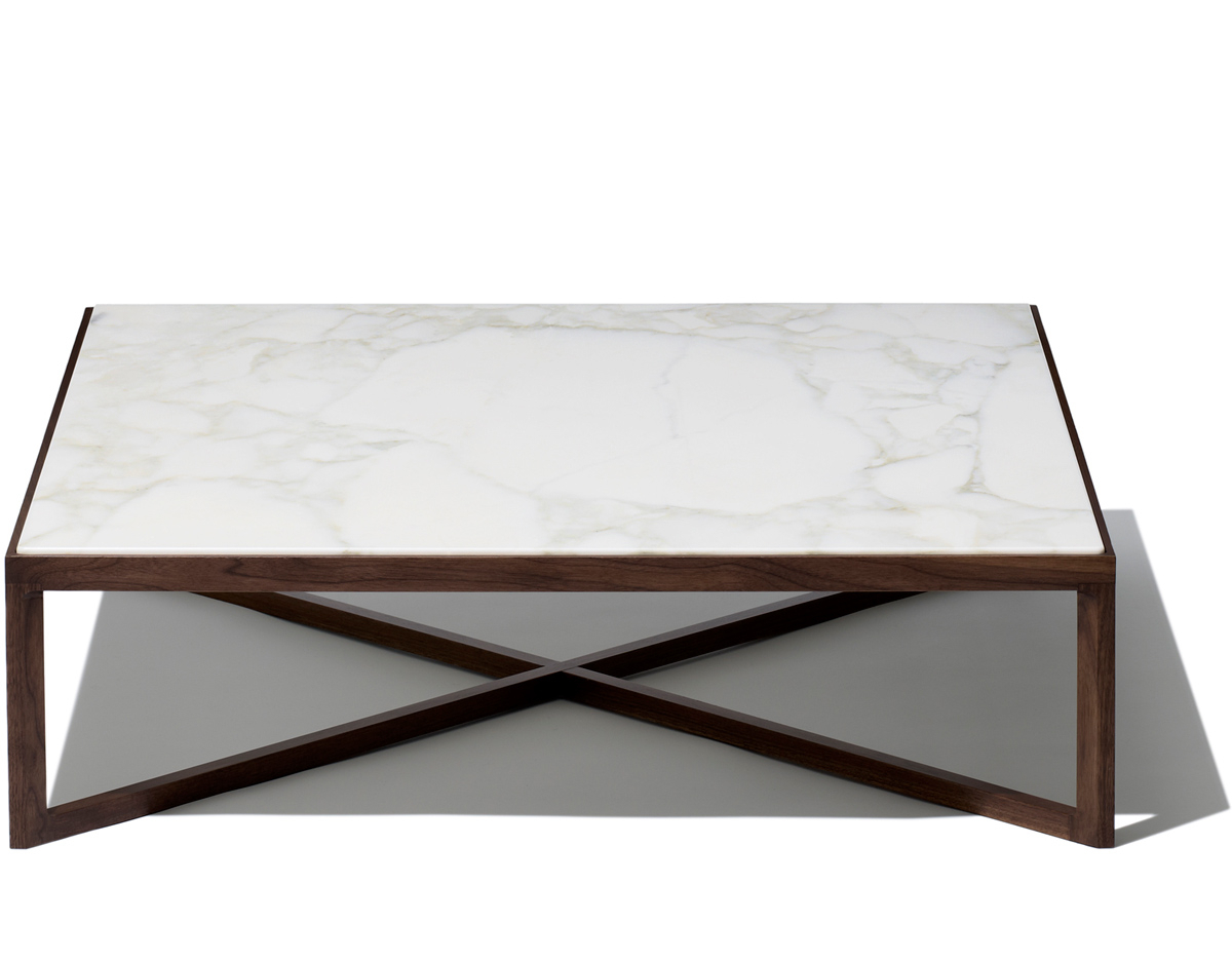 Most Up To Date Krusin Square Coffee Table – Hivemodern In Suspend Ii Marble And Wood Coffee Tables (View 7 of 20)