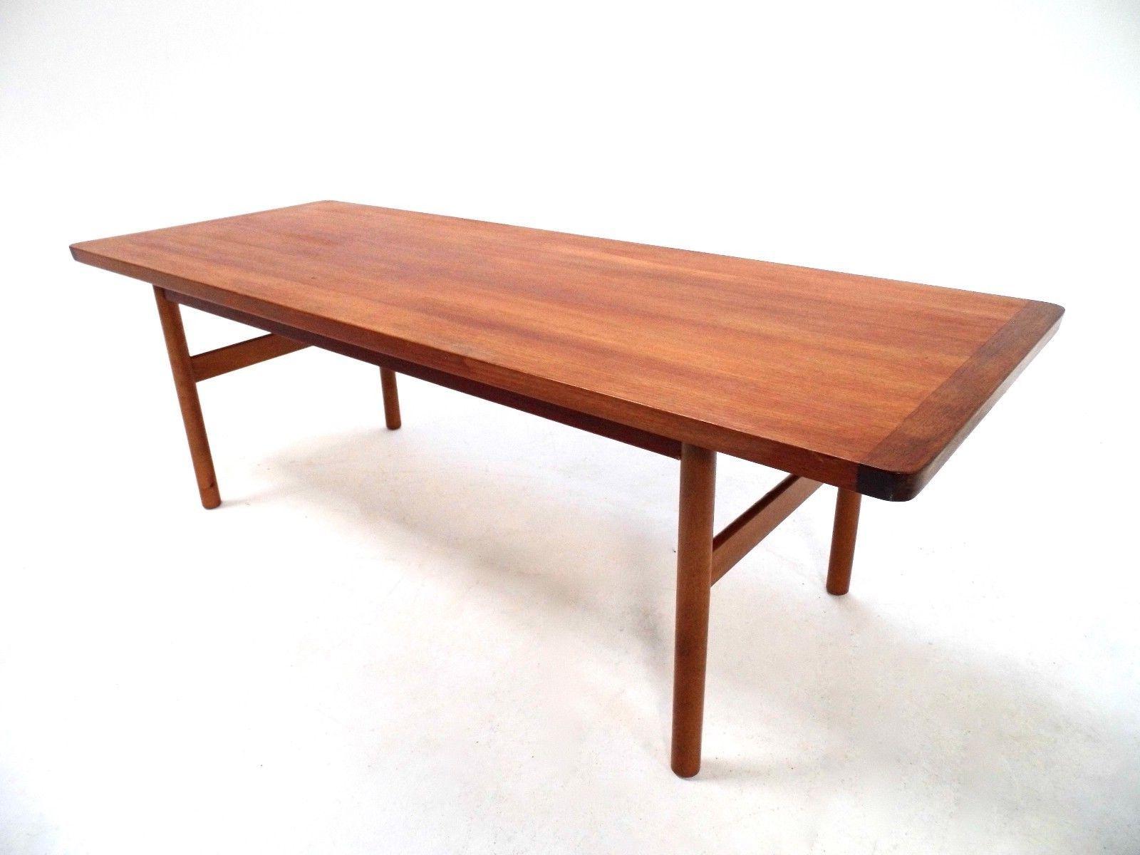Most Up To Date Large Teak Coffee Tables Regarding Vintage Scandinavian Large Teak Coffee Table Norwegian Midcentury (View 10 of 20)